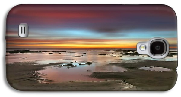 Seaside Reef Sunset 14 Galaxy S4 Case by Larry Marshall