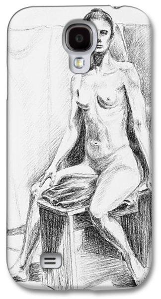 Seated Model Drawing  Galaxy S4 Case by Irina Sztukowski