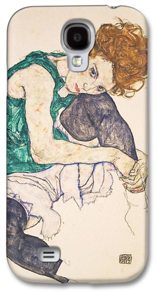 Seated Woman With Legs Drawn Up. Adele Herms Galaxy S4 Case