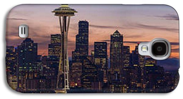 Seattle Cityscape Morning Light Galaxy S4 Case by Mike Reid