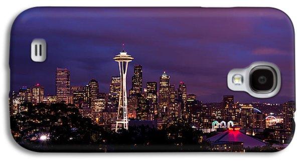 Seattle Night Galaxy S4 Case by Chad Dutson
