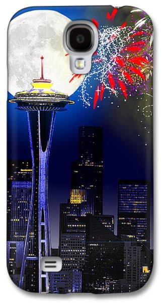 Seattle Skyline Galaxy S4 Case