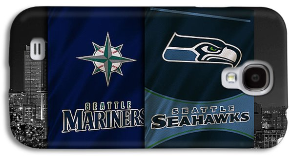 Seattle Sports Teams Galaxy S4 Case by Joe Hamilton