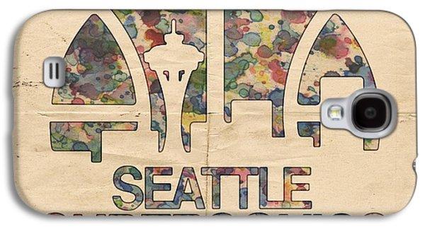 Seattle Supersonics Poster Vintage Galaxy S4 Case by Florian Rodarte