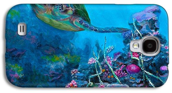 Secret Sanctuary - Hawaiian Green Sea Turtle And Reef Galaxy S4 Case