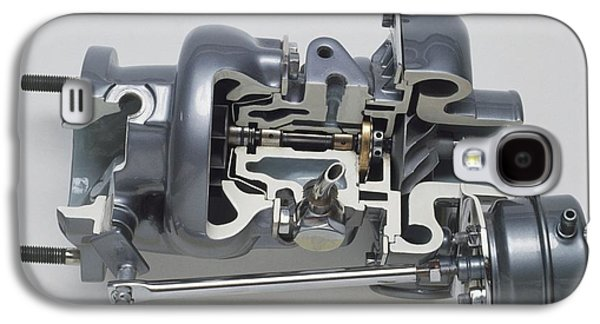 Sectioned Modern Turbocharger From An Car Galaxy S4 Case