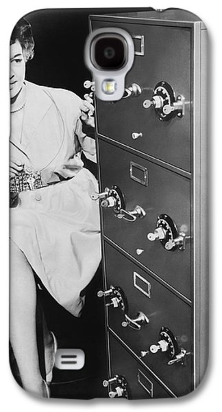 Secure Filing Cabinet Galaxy S4 Case by Underwood Archives