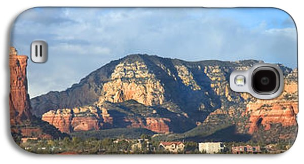 Mountain Valley Galaxy S4 Cases - Sedona Arizona Panoramic Galaxy S4 Case by Mike McGlothlen