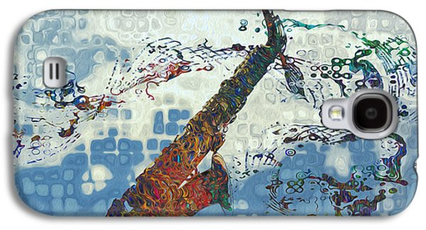 Saxophone Galaxy S4 Case - See The Sound 2 by Jack Zulli