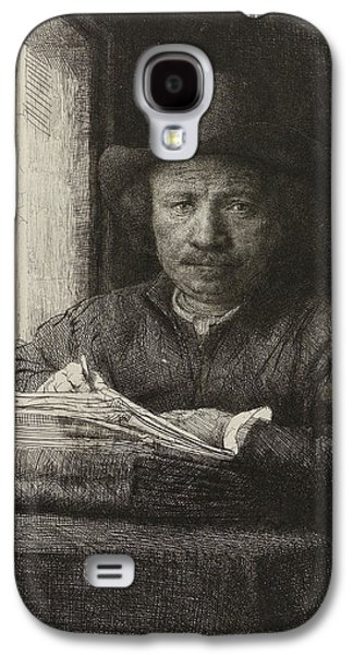 Self-portrait Etching At A Window Galaxy S4 Case by Rembrandt