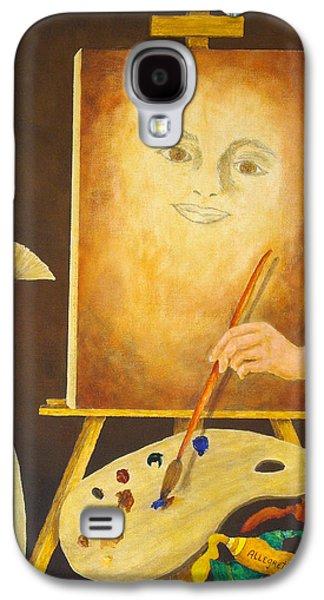 Self-portrait In Progress Galaxy S4 Case by Pamela Allegretto