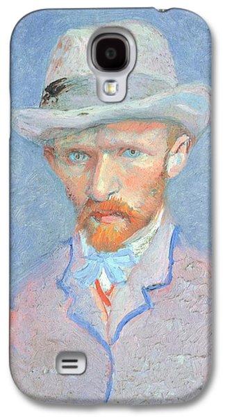 Self-portrait With Gray Felt Hat Galaxy S4 Case by Vincent van Gogh