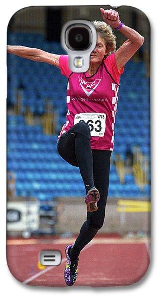 Senior British Female Athlete Mid-air Galaxy S4 Case