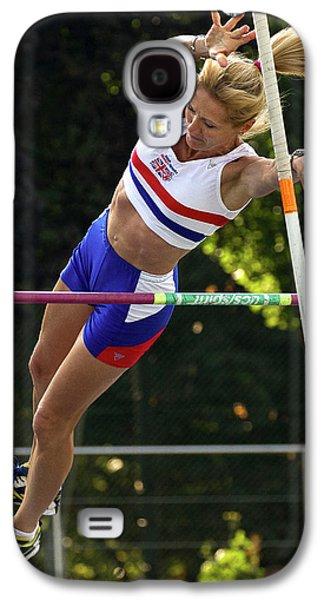 Senior British Female Pole Vaulter Galaxy S4 Case by Alex Rotas