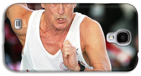 Senior British Masters Athlete Running Galaxy S4 Case
