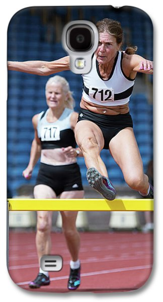 Senior Female Athlete Clears Hurdle Galaxy S4 Case