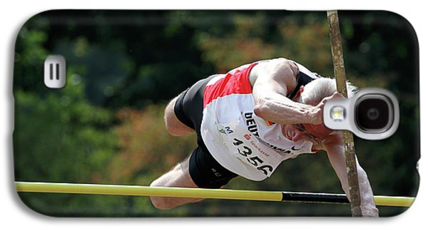 Senior Pole Vaulter Clearing The Bar Galaxy S4 Case
