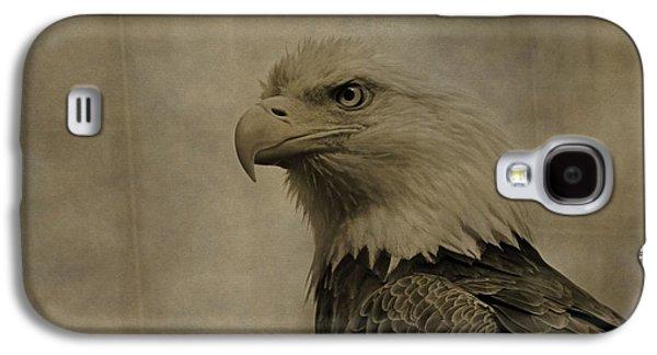 Sepia Bald Eagle Portrait Galaxy S4 Case by Dan Sproul