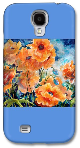 September Orange Poppies            Galaxy S4 Case by Kathy Braud