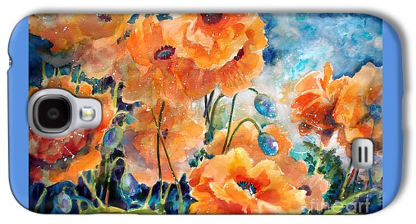 September Orange Poppies            Galaxy S4 Case