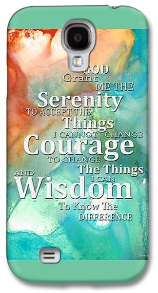 Serenity Prayer 1 - By Sharon Cummings Galaxy S4 Case
