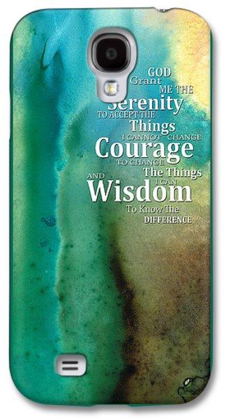 Serenity Prayer 2 - By Sharon Cummings Galaxy S4 Case