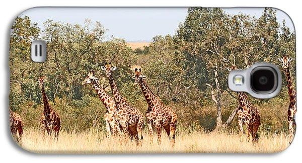 Seven Masai Giraffes Galaxy S4 Case by Liz Leyden
