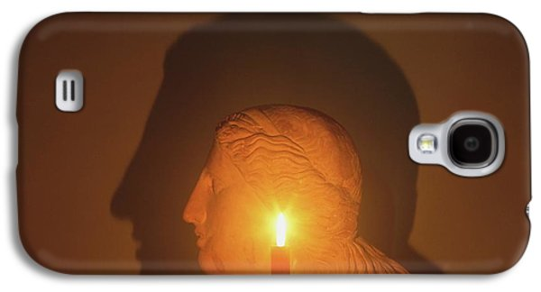 Shadow Of A Bust In Candle Light Galaxy S4 Case by Dorling Kindersley/uig