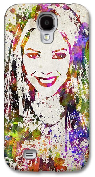Shakira In Color Galaxy S4 Case by Aged Pixel