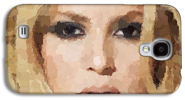 Shakira Portrait Galaxy S4 Case by Samuel Majcen
