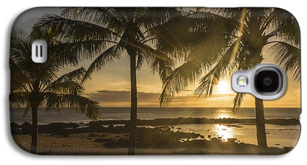 Sharks Cove Sunset 2 - Oahu Hawaii Galaxy S4 Case by Brian Harig