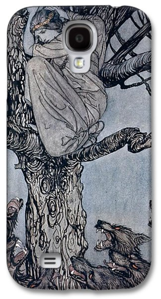 She Looked With Angry Woe At The Straining And Snarling Horde Below Illustration From Irish Fairy  Galaxy S4 Case