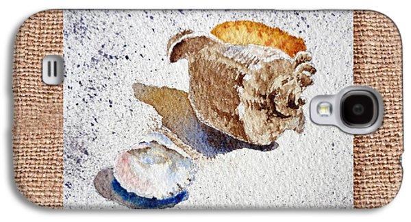 She Sells Sea Shells Decorative Collage Galaxy S4 Case by Irina Sztukowski