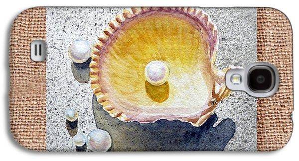 She Sells Seashells Decorative Collage Galaxy S4 Case by Irina Sztukowski