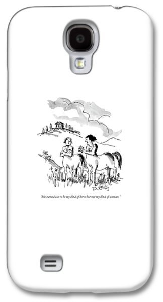 She Turned Out To Be My Kind Of Horse But Galaxy S4 Case by Donald Reilly