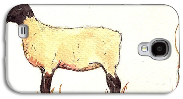 Sheep Black White Galaxy S4 Case