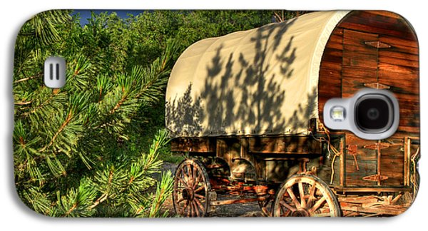 Sheep Herder's Wagon Galaxy S4 Case by Donna Kennedy