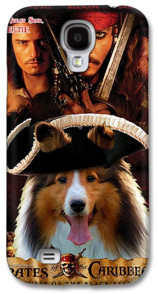 Sheltie - Shetland Sheepdog Art Canvas Print - Pirates Of The Caribbean The Curse Of The Black Pearl Galaxy S4 Case