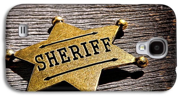Sheriff Badge Galaxy S4 Case by Olivier Le Queinec