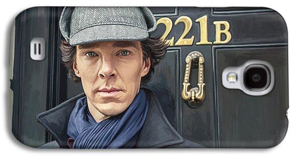 Sherlock Holmes Artwork Galaxy S4 Case by Sheraz A
