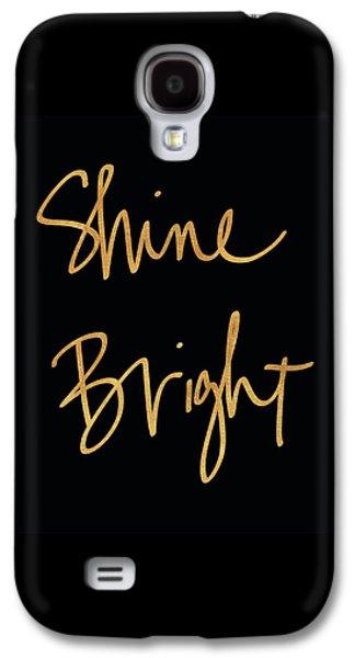 Shine Bright On Black Galaxy S4 Case by South Social Studio
