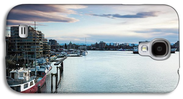 Ships At Inner Harbor, Victoria Galaxy S4 Case