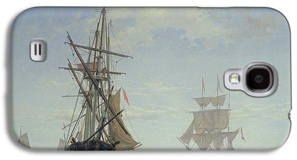 Ships In A Dutch Estuary Galaxy S4 Case by WA Van Deventer