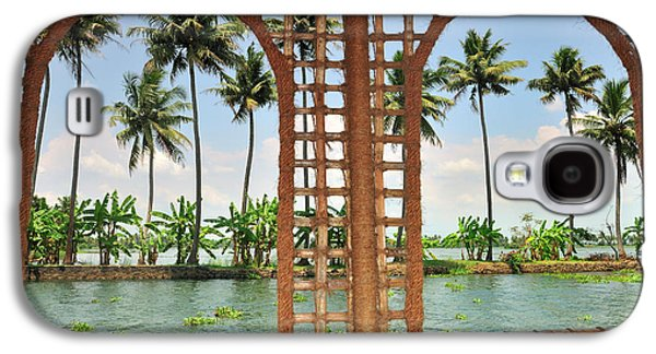 Shoreline Of The Kerala Backwaters Galaxy S4 Case by Steve Roxbury