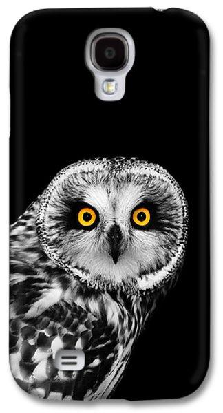 Short-eared Owl Galaxy S4 Case by Mark Rogan