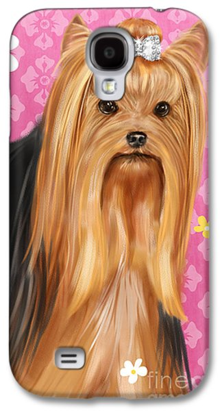 Show Dog Yorkshire Terrier Galaxy S4 Case by Shari Warren