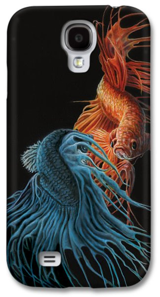 Siamese Fighting Fish Two Galaxy S4 Case by Wayne Pruse