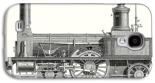 Sideview Of A Locomotive Showing The Mechanism Of The Engine Galaxy S4 Case