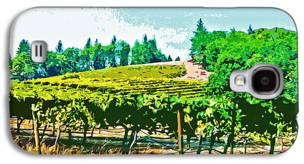 Sierra Foothills Vineyard Galaxy S4 Case by Charlette Miller
