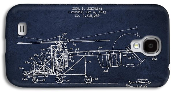 Helicopter Galaxy S4 Case - Sikorsky Helicopter Patent Drawing From 1943 by Aged Pixel